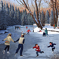Winter Fun At Bowness Park by Neil Woodward