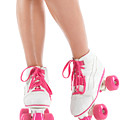 Young Woman Wearing Roller Derby Skates by Oleksiy Maksymenko