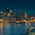 2011 Supermoon Over Pittsburgh by Jennifer Grover