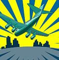 Jumbo Jet Plane Retro by Aloysius Patrimonio
