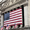 The Facade Of The New York Stock by Justin Guariglia