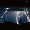 4 Lightning Bolts Fine Art Photography Print by James BO  Insogna