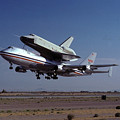 747 Takes Off With Space Shuttle Enterprise For Alt-1 by Brian Lockett