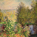 A Corner Of The Garden At Montgeron by Claude Monet