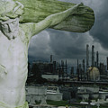 A Crucifixion Statue In A Cemetery by Joel Sartore