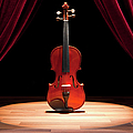 A Double Bass On A Theatre Stage by Caspar Benson