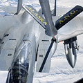 A F-15 Eagle Refuels Behind A Kc-135 by Stocktrek Images