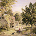 A Farmyard Near Princes Risborough by Samuel Palmer