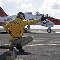 A Shooter Launches A T-45 Goshawk by Stocktrek Images