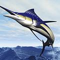A Sleek Blue Marlin Bursts by Corey Ford