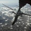 A U.s. Air Force Kc-10 Refuels A B-1b by Stocktrek Images