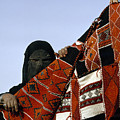 A Veiled Bedouin Woman Peers by Thomas J. Abercrombie