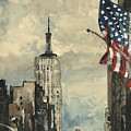 A Watercolor Sketch Of New York by Dirk Dzimirsky