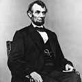 Abraham Lincoln Portrait - Used For The Five Dollar Bill - C 1864 by International  Images