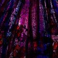 Acid Rain With Red Flowers by Rachel Christine Nowicki