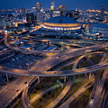 Aerial Of The Superdome In The Downtown by Tyrone Turner