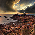 after the storm at La Corbiere Print by Meirion Matthias
