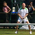 Agassi Warmup by Anne Babineau