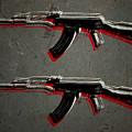 Ak47 Assault Rifle Pop Art by Michael Tompsett