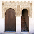 Alhambra Door And Stairs by Jane Rix