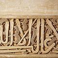 Alhambra Wall Detail4 by Jane Rix