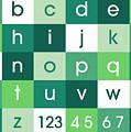 Alphabet Green by Michael Tompsett