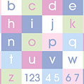 Alphabet Pastel by Michael Tompsett