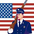 American Soldier Flag by Aloysius Patrimonio
