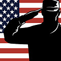 American Soldier Salute by Aloysius Patrimonio