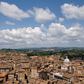 An Aerial Of Sienna, Tuscany by Joel Sartore