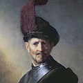 An Old Man In Military Costume by Rembrandt