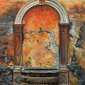 Ancient Italian Fountain by Charlotte Blanchard