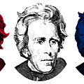 Andrew Jackson Red White And Blue by War Is Hell Store