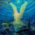 Angel Tarot Card Mermaid Angel by Steve Roberts