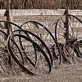 Antique Wagon Wheels I by Tom Mc Nemar