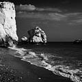 Aphrodites Rock Petra Tou Romiou Republic Of Cyprus by Joe Fox