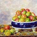 Apples In A Dish by  Pierre Auguste Renoir