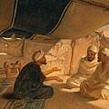Arabs In The Desert by Frederick Goodall