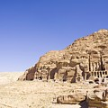 Archaeological Remains Of Petra  Unesco World Heritage Site Jordan, Middle East by Gallo Images