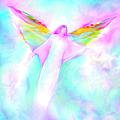 Archangel Gabriel In Flight by Glenyss Bourne