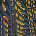 Arrival Board At Paris Charles De Gaulle International Airport by Sami Sarkis