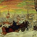 Arriving For The Holidays by Boris Mihajlovic Kustodiev