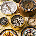 Assorted Compasses by Garry Gay
