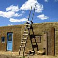 At Home Taos Pueblo by Kurt Van Wagner