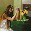 At The Dressing Table by Felix Edouard Vallotton