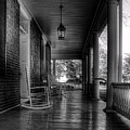 Avenel Front Porch - Bw by Steve Hurt