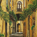 Back Street In Italy by Charlotte Blanchard