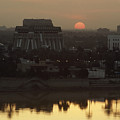 Baghdad And The Tigris River At Sunset by Lynn Abercrombie
