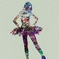 Ballerina Watercolor by Naxart Studio