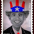 Barack Obama Postage Stamp by Teodoro De La Santa